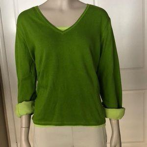 J. Jill Layered Cotton Sweater